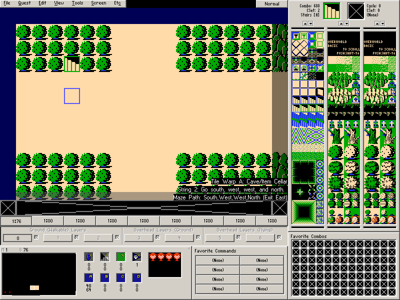 The final maze screen